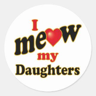 Jag jamar min döttrar runt klistermärke