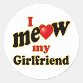 Jag jamar min flickvän runt klistermärke