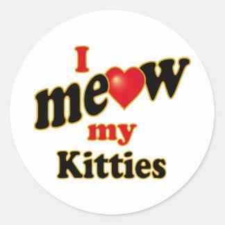 Jag jamar min kattungar runt klistermärke