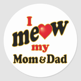 Jag jamar min mamma och pappa runt klistermärke
