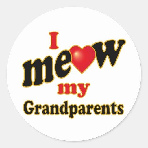 Jag jamar min morföräldrar runda klistermärken