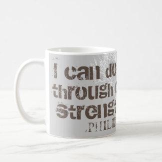 Jag kan göra all kristen manarScripture för saker Kaffemugg