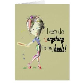 Jag kan göra baseball i min häl! Den roliga OBS Kort