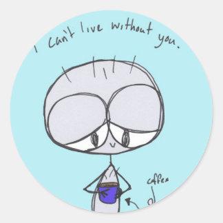 jag kan inte bo utan dig - klistermärken