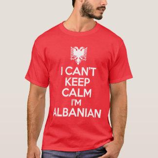 Jag kan inte hålla lugn mig förmiddagen albansk t-shirts