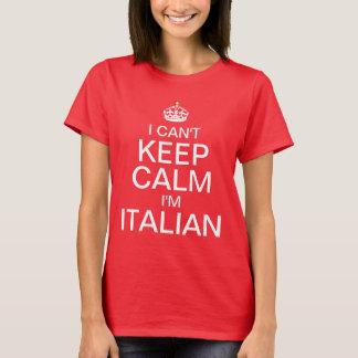 Jag kan inte hålla lugn mig förmiddagen italiensk t shirt