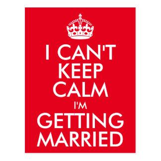 Jag kan inte hålla lugn som mig, gifta sig vykort