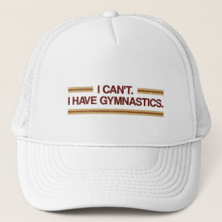 Jag kan inte mig ha gymnastik keps