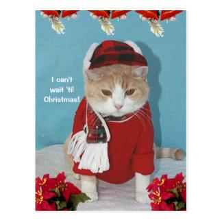 Jag kan inte väntan 'til jul! vykort