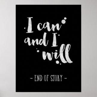 Jag kan, och jag ska - den inspirera affischen poster