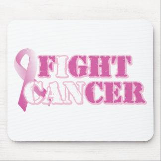 Jag kan slåss cancer (rosor) musmatta