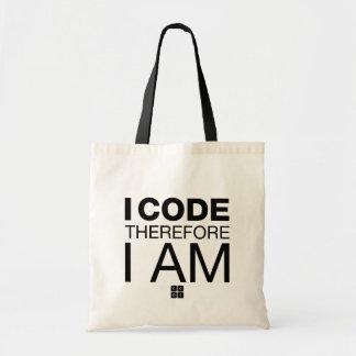 Jag kodifierar därför mig förmiddagen budget tygkasse