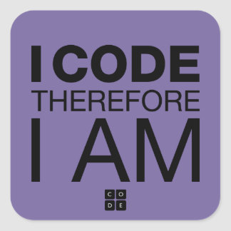 Jag kodifierar därför mig förmiddagen fyrkantigt klistermärke