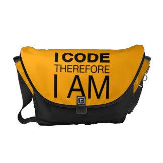 Jag kodifierar därför mig förmiddagen kurir väskor