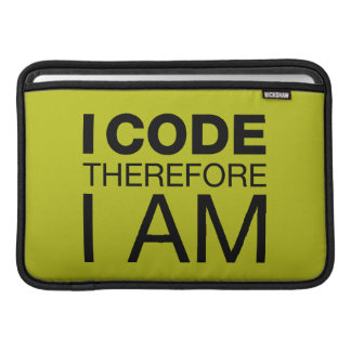 Jag kodifierar därför mig förmiddagen MacBook sleeves