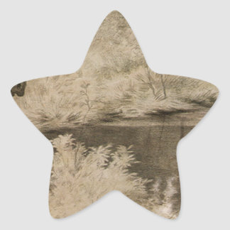 Jag kom till de hemliga vårarna och sjöar var stjärnformat klistermärke
