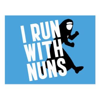 Jag kör med nunnor vykort