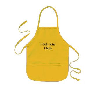 Jag kysser endast kockar barnförkläde