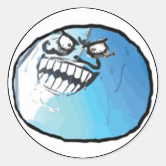 Jag låg komiska Meme Rund Klistermärke