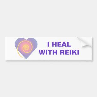Jag läker med den Reiki bildekalet Bildekal