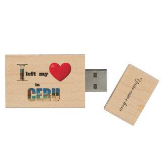 Jag lämnade min hjärta i Cebu - älska Trä USB-minne