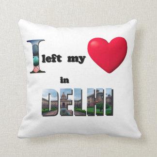 Jag lämnade min hjärta i Delhi-Kärlek gåva för att Dekorativ Kudde