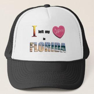 Jag lämnade min hjärta i Florida - älska Truckerkeps