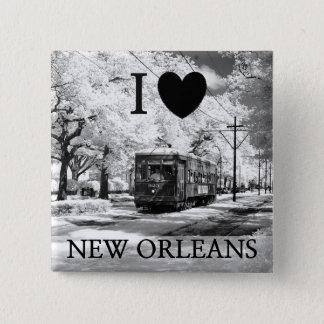Jag lämnade min hjärta i New Orleans för att Standard Kanpp Fyrkantig 5.1 Cm