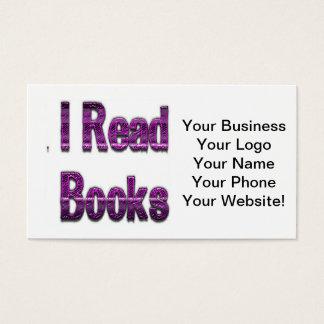 Jag läste purpurfärgade bokar visitkort