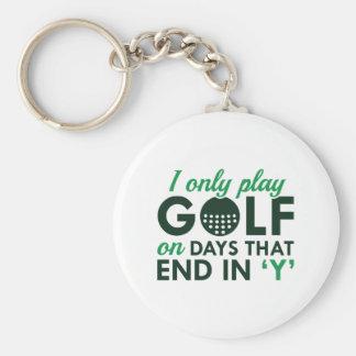 Jag leker endast Golf Rund Nyckelring