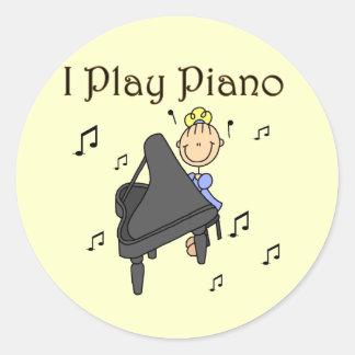 Jag leker pianoT-tröja och gåvor Klistermärke