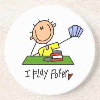 Jag leker poker underlägg sandsten