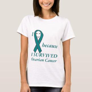 Jag ler, därför att JAG ÖVERLEVDE Ovarian Ccancer Tröja
