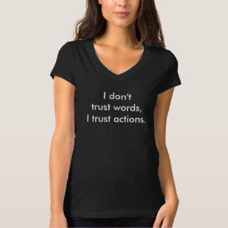 Jag litar på inte ord tee shirt
