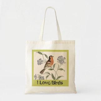 Jag love birds hänger lös tygkasse