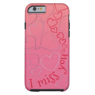 Jag missa dig så bjöd (hand plockadehjärtor) tough iPhone 6 fodral