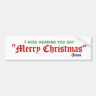 Jag missa god jul bildekal