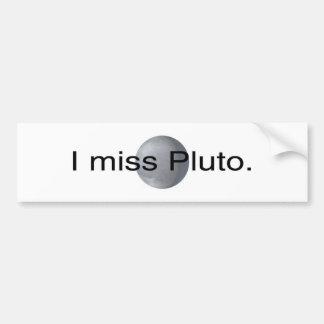 Jag missa pluto bildekal