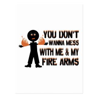 Jag & mitt avfyrar ärmar vykort
