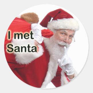 Jag mötte Santa Runt Klistermärke