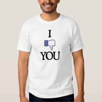 Jag ogillar dig skjortan (ljus dräkt) tee shirts