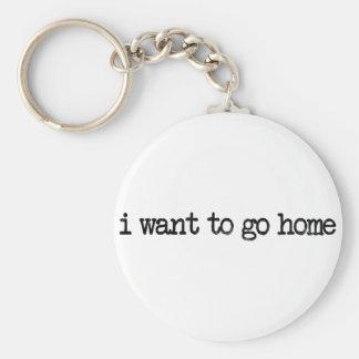 jag önskar att gå hem rund nyckelring