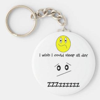 jag önskar att jag kunde sova all dagkeychain rund nyckelring