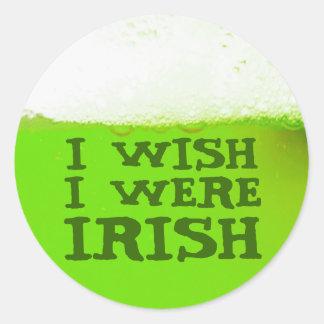 Jag önskar att jag var den irländska gröna runt klistermärke