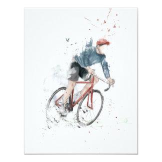 Jag önskar att rida min cykel 10,8 x 14 cm inbjudningskort