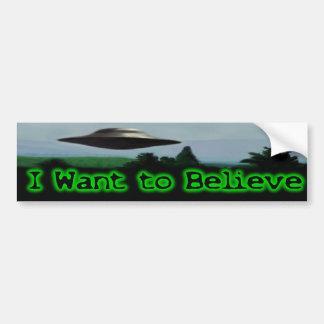 Jag önskar att tro bildekal