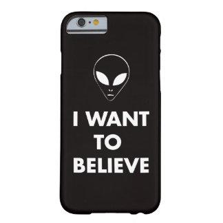 Jag önskar att tro (svarten) barely there iPhone 6 skal