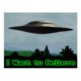 Jag önskar att tro vykort