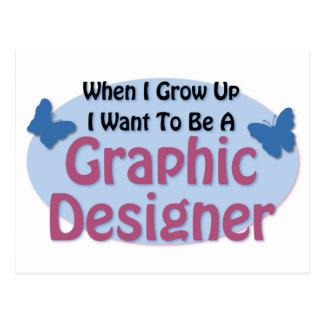 Jag önskar att vara en grafisk formgivare vykort