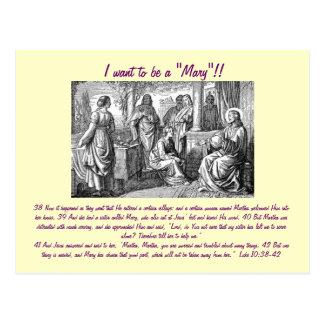 """Jag önskar att vara """"en Mary""""!! vykort"""